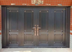 别墅铜门安装